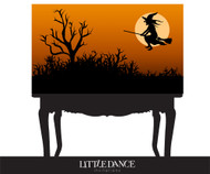 Personalized Halloween or witch themed party banner or backdrop - Witch on broomstick design. For sale online in Australia