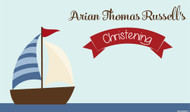 Personalized Christening or Baptism banner or backdrop - nautical or boat theme design. For sale online in Australia
