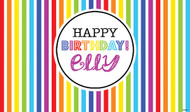 Personalized & custom adults or kids birthday party banner or backdrop. Your message and text. Rainbow party theme.