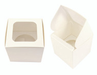 Square cupcake favor boxes. Cheap wedding or christening bonbonniere containers. For sale online in Australia