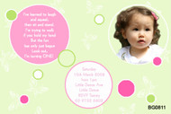 Green & Hot Pink Birthday Party Invitations