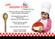 Little Masterchef Birthday Party Invitations