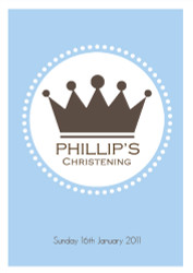 Little Prince Personalised Edible Image Cake Icing for naming, baptism or christening