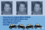 Zoom Zoom Cars Birthday Party Invitations