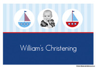 Sailboat Nautical Themed Baptism Christening Cake Icing