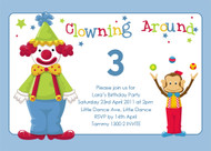 Birthday Invites - Clown Around