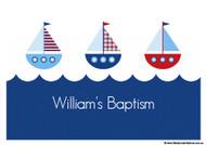 Nautical Baptism Christening Cake Icing. Buy online in Australia