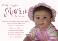 Sweet Simple Pink Girls Baptism & Christening Invitation
