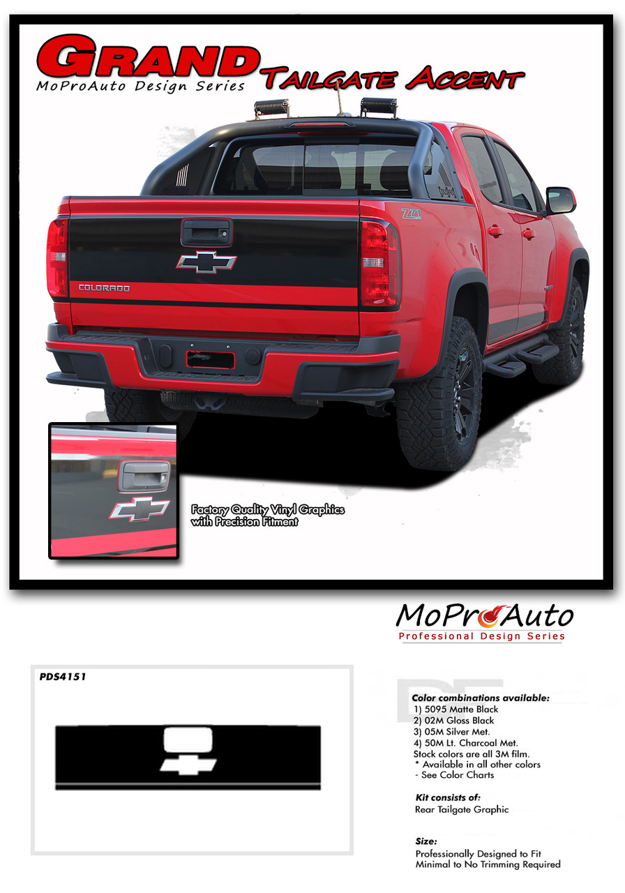 2015 2016 2017 2018 2019 2020 GRAND CHEVY COLORADO - MoProAuto Pro Design Series Vinyl Graphics, Stripes and Decals Kit