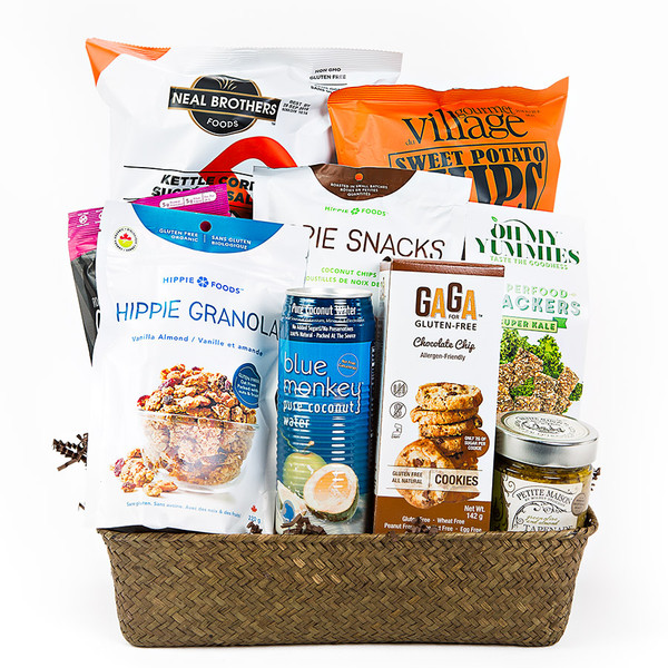 Gluten free gift baskets a mix of salty and sweet for the gluten free lover a perfect gift basket negle Choice Image