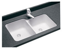 Swanstone US-3015 Undermount Double Bowl - Solid Color