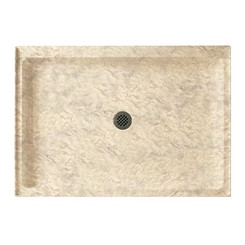"Swanstone SS-3442 Single Threshold Shower Floor 34"" x 42"" - Aggregate Color"