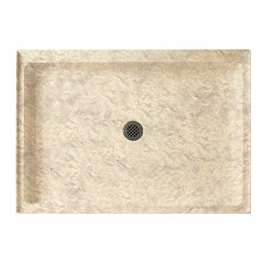 Swanstone Ss 3442 Single Threshold Shower Floor 34 Quot X 42 Quot Aggregate Color Swanstone Products