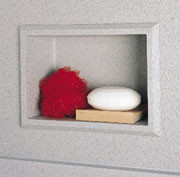 Swanstone AS-1075 Recessed Accessory Shelf - Solid Color