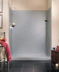 "Swanstone SK-346072 Solid Surface Shower Wall Kit 34"" x 60"" x 72"" - Aggregate Color"