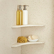 The kit consists of one corner soap dish. Order two or more soap dishes to stack in one corner or place in opposite corners.