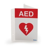 Flexible AED Wall Sign - Red