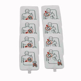 AED UltraTrainer™ Adult/Child Replacement Training Pad Set, 4-Pack (8 pads total)