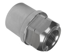"Quarter-Max 3/4""-16 x 1-1/2"" .095 LH Tube Adapter, Hex Style"