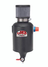 JAZ Products 1 Quart Breather Tank, Black, AN-8 Fitting
