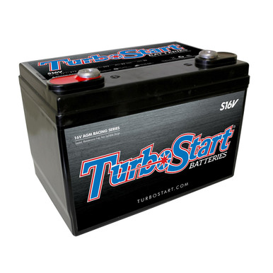 "TurboStart S16V 16 Volt AGM Race Battery, 10.30"" L x 6.75"" W x 7.25"" H"