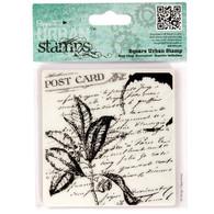 Docrafts Papermania - Beautiful - Square Urban Stamp - Folium