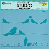 Lovebird Stencil - Claudine Hellmuth Studios
