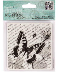 Docrafts Papermania - Beautiful - Square Urban Stamp - Entomologist