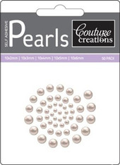 Couture Creations - Self Adhesive Pearls- Cafe Creme