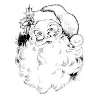 Santa rubber stamp