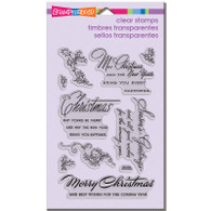 clear acrylic Christmas sentiment stamp