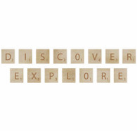 square wooden embellishment words