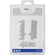 decorative metal die script words