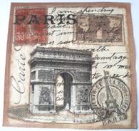 Paper Collage Napkins: Paris #3