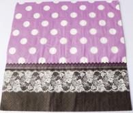 Paper Collage Napkins: Dots & Lace