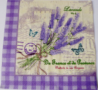 Paper Collage Napkins: Lavender Fields