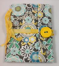 Fabric Art Journal: Daisy Garden front view