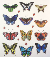Butterfly Stickers- 12pc (SDBS72851)