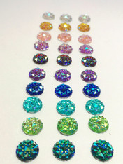 10mm Round Resin Rhinestones-30 mixed pack (SD10MMRS82851