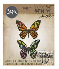 Detailed Butterflies - Tim Holtz /Sizzix Thinlits Die Set 4PK