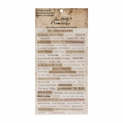 Tim Holtz Idea-ology- Clipping Stickers (SDTH93583)