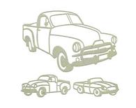Aussie Vehicles Set -Chipboard (3pc)