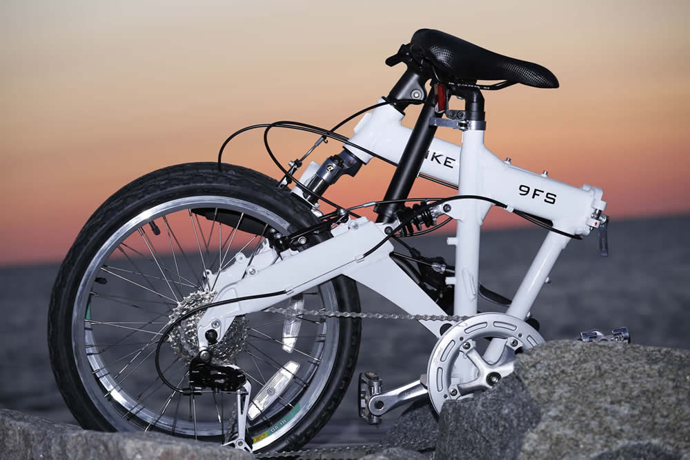 9FS folding Bike at Sunset