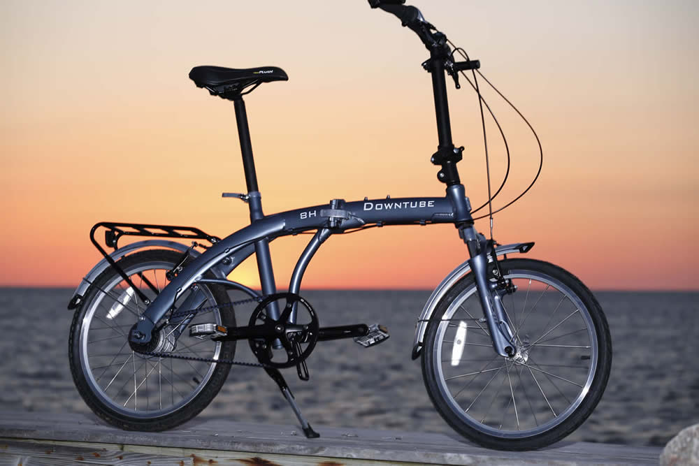 8H Folding Bike at Hatteras Island