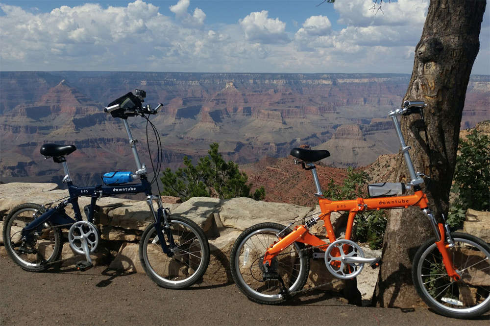 8FS folding bikes at Yellowstone National Park