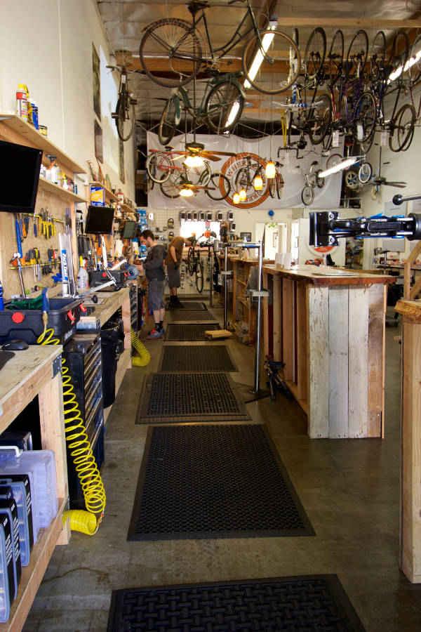 Anywhere Bike shop in the Back