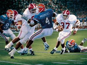 Rebirth in the Swamp - Collegiate Classic 8x10 - Alabama Football vs. Florida 1999