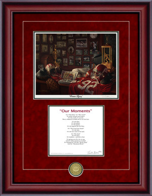 Print-Poem - Crimson Legacy (Alabama Football)