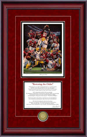 Print-Poem - Restoring the Order - Alabama Football 2011 National Champions