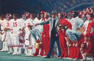 "The Coach and 315 - Collegiate Classic 8x10 - Coach Paul ""Bear"" Bryant - Alabama Football vs. Auburn 1981"